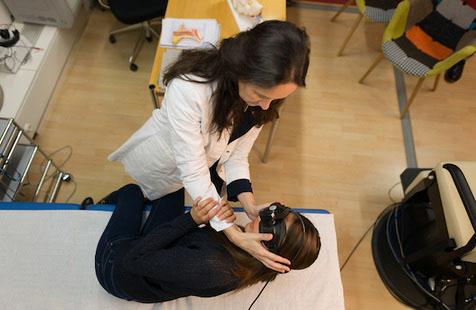 Тестирование пациента, больного ДППГ