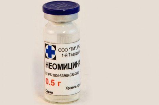 В состав Анаурана входит антибиотик Неомицин
