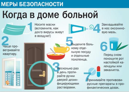 Если в доме есть заболевший человек, обезопасте себя и детей, соблюдая профилактику
