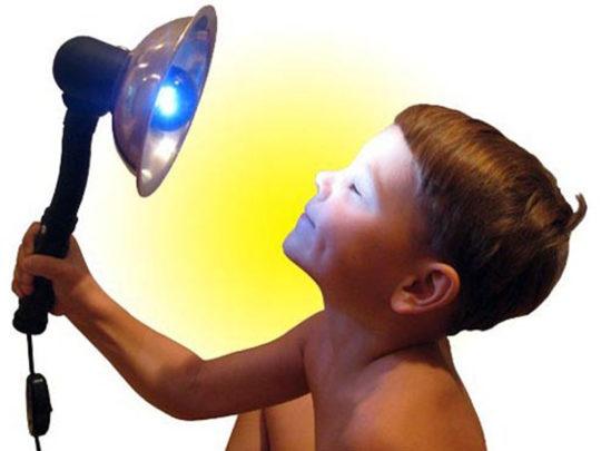 Сухое тепло синей лампы полезно при ЛОР-заболеваниях