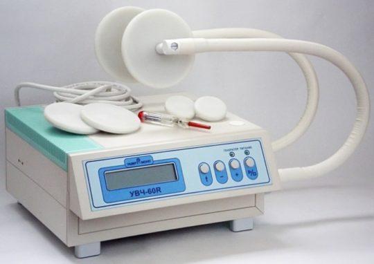 Аппарат УВЧ при ушных воспалениях